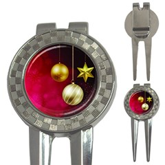 Lamp Star Merry Christmas 3-in-1 Golf Divots by AnjaniArt