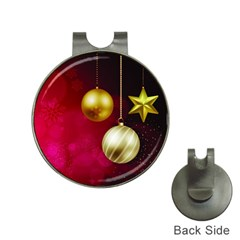 Lamp Star Merry Christmas Hat Clips With Golf Markers by AnjaniArt