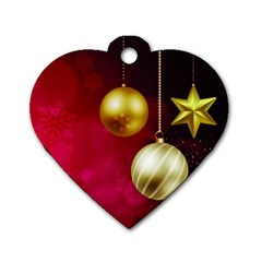 Lamp Star Merry Christmas Dog Tag Heart (one Side) by AnjaniArt
