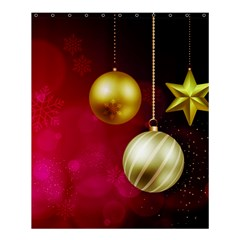Lamp Star Merry Christmas Shower Curtain 60  X 72  (medium)  by AnjaniArt