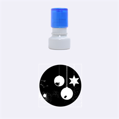 Lamp Star Merry Christmas Rubber Round Stamps (small)