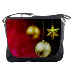 Lamp Star Merry Christmas Messenger Bags by AnjaniArt