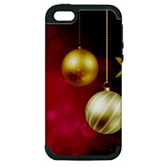 Lamp Star Merry Christmas Apple Iphone 5 Hardshell Case (pc+silicone) by AnjaniArt