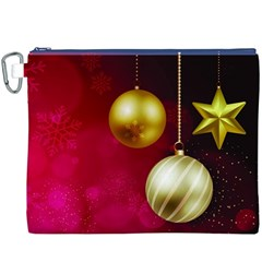Lamp Star Merry Christmas Canvas Cosmetic Bag (xxxl) by AnjaniArt