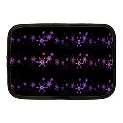 Purple Elegant Xmas Netbook Case (medium)  by Valentinaart