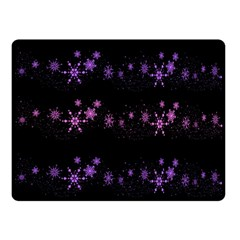 Purple Elegant Xmas Fleece Blanket (small) by Valentinaart