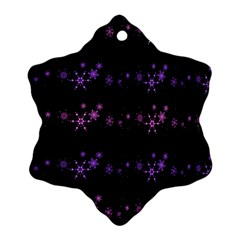 Purple Elegant Xmas Ornament (snowflake)  by Valentinaart