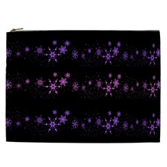 Purple Elegant Xmas Cosmetic Bag (xxl)  by Valentinaart