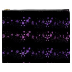 Purple Elegant Xmas Cosmetic Bag (xxxl)  by Valentinaart