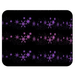 Purple Elegant Xmas Double Sided Flano Blanket (medium)  by Valentinaart