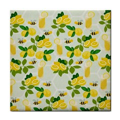 Lemon Print Fruite Juise Fress Drink Tile Coasters by AnjaniArt