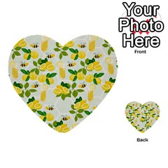 Lemon Print Fruite Juise Fress Drink Multi Purpose Cards (heart)