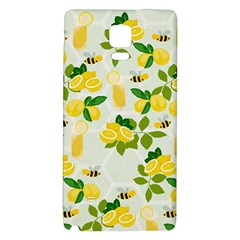 Lemon Print Fruite Juise Fress Drink Galaxy Note 4 Back Case by AnjaniArt
