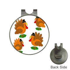 Thanksgiving Turkeys Hat Clips With Golf Markers by Valentinaart