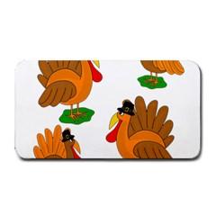 Thanksgiving Turkeys Medium Bar Mats by Valentinaart