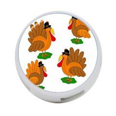 Thanksgiving Turkeys 4 Port Usb Hub (two Sides)  by Valentinaart