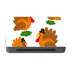 Thanksgiving Turkeys Memory Card Reader With Cf by Valentinaart