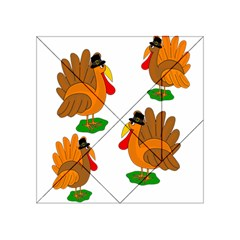 Thanksgiving Turkeys Acrylic Tangram Puzzle (4  X 4 ) by Valentinaart