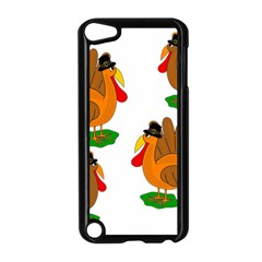 Thanksgiving Turkeys Apple Ipod Touch 5 Case (black) by Valentinaart