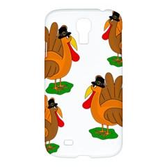 Thanksgiving Turkeys Samsung Galaxy S4 I9500/i9505 Hardshell Case by Valentinaart