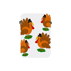 Thanksgiving Turkeys Apple Ipad Mini Protective Soft Cases by Valentinaart