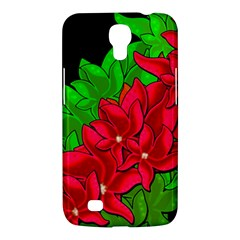 Xmas Red Flowers Samsung Galaxy Mega 6 3  I9200 Hardshell Case by Valentinaart