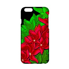 Xmas Red Flowers Apple Iphone 6/6s Hardshell Case by Valentinaart