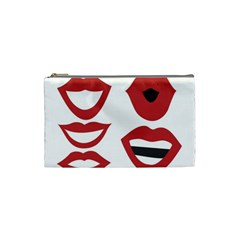Lip Sexy Red Cosmetic Bag (small)  by AnjaniArt