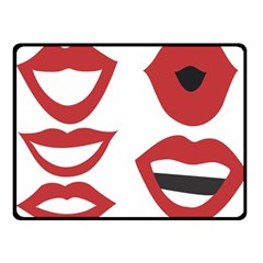 Lip Sexy Red Fleece Blanket (small) by AnjaniArt