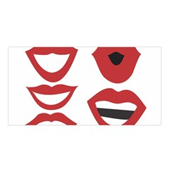 Lip Sexy Red Satin Shawl by AnjaniArt