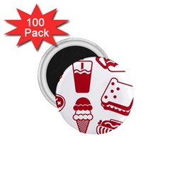 Mad Ice Ernies Tea Bred 1.75  Magnets (100 pack)  by AnjaniArt