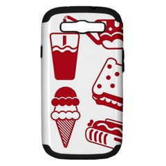 Mad Ice Ernies Tea Bred Samsung Galaxy S Iii Hardshell Case (pc+silicone) by AnjaniArt