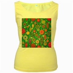 Ornaments Homemade Christmas Ornament Crafts Women s Yellow Tank Top by AnjaniArt