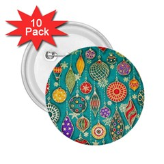 Ornaments Homemade Christmas Ornament Crafts 2 25  Buttons (10 Pack)  by AnjaniArt