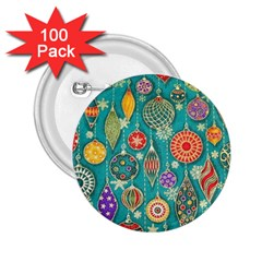 Ornaments Homemade Christmas Ornament Crafts 2 25  Buttons (100 Pack)  by AnjaniArt
