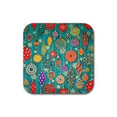 Ornaments Homemade Christmas Ornament Crafts Rubber Coaster (square)  by AnjaniArt