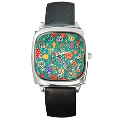 Ornaments Homemade Christmas Ornament Crafts Square Metal Watch by AnjaniArt