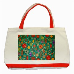 Ornaments Homemade Christmas Ornament Crafts Classic Tote Bag (red) by AnjaniArt
