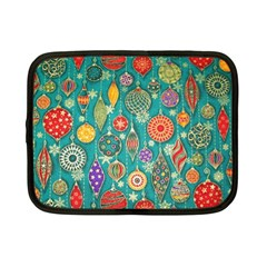 Ornaments Homemade Christmas Ornament Crafts Netbook Case (small)  by AnjaniArt