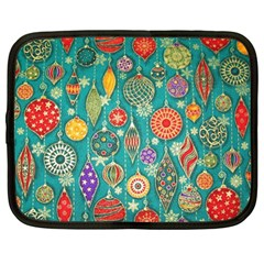 Ornaments Homemade Christmas Ornament Crafts Netbook Case (large) by AnjaniArt