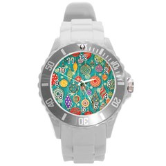 Ornaments Homemade Christmas Ornament Crafts Round Plastic Sport Watch (l) by AnjaniArt