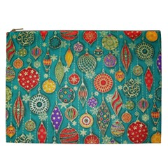 Ornaments Homemade Christmas Ornament Crafts Cosmetic Bag (xxl)  by AnjaniArt