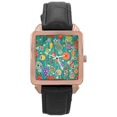 Ornaments Homemade Christmas Ornament Crafts Rose Gold Leather Watch  by AnjaniArt