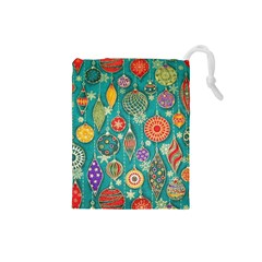 Ornaments Homemade Christmas Ornament Crafts Drawstring Pouches (small)  by AnjaniArt