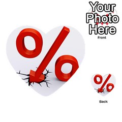 Percent Multi Purpose Cards (heart)  by AnjaniArt