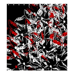 Red Abstract Flowers Shower Curtain 66  X 72  (large)  by Valentinaart