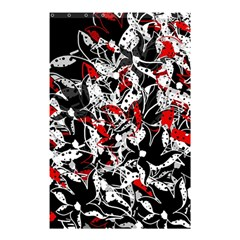 Red Abstract Flowers Shower Curtain 48  X 72  (small)  by Valentinaart