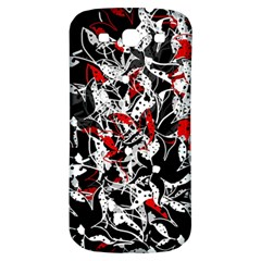 Red Abstract Flowers Samsung Galaxy S3 S Iii Classic Hardshell Back Case by Valentinaart