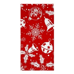 Red Winter Holiday Pattern Red Christmas Shower Curtain 36  X 72  (stall)  by AnjaniArt