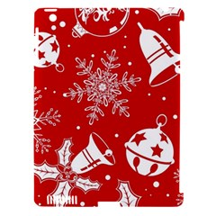 Red Winter Holiday Pattern Red Christmas Apple Ipad 3/4 Hardshell Case (compatible With Smart Cover) by AnjaniArt